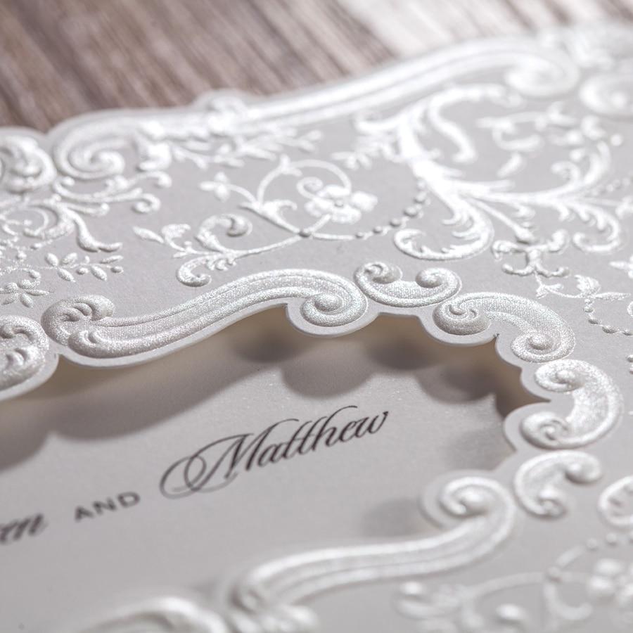 100pcs Customized Wedding Invitations Cards Elegant Birthday Party ...