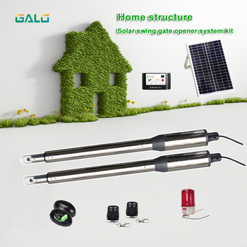 GALO PKM-C01 Dual Swing Gate Opener Kit,Intelligent solar powered swing arm gate engine фото