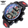AMST LED Digital Multi-Functional Quartz Watch Dual Time Date Alarm Brand Hours Military Sports Men Watches Relogio Masculino