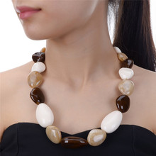 JEROLLIN Fashion Chokers Necklace Jewelry Statement Necklaces & Pendants Resin Beads Pendant Women Necklace