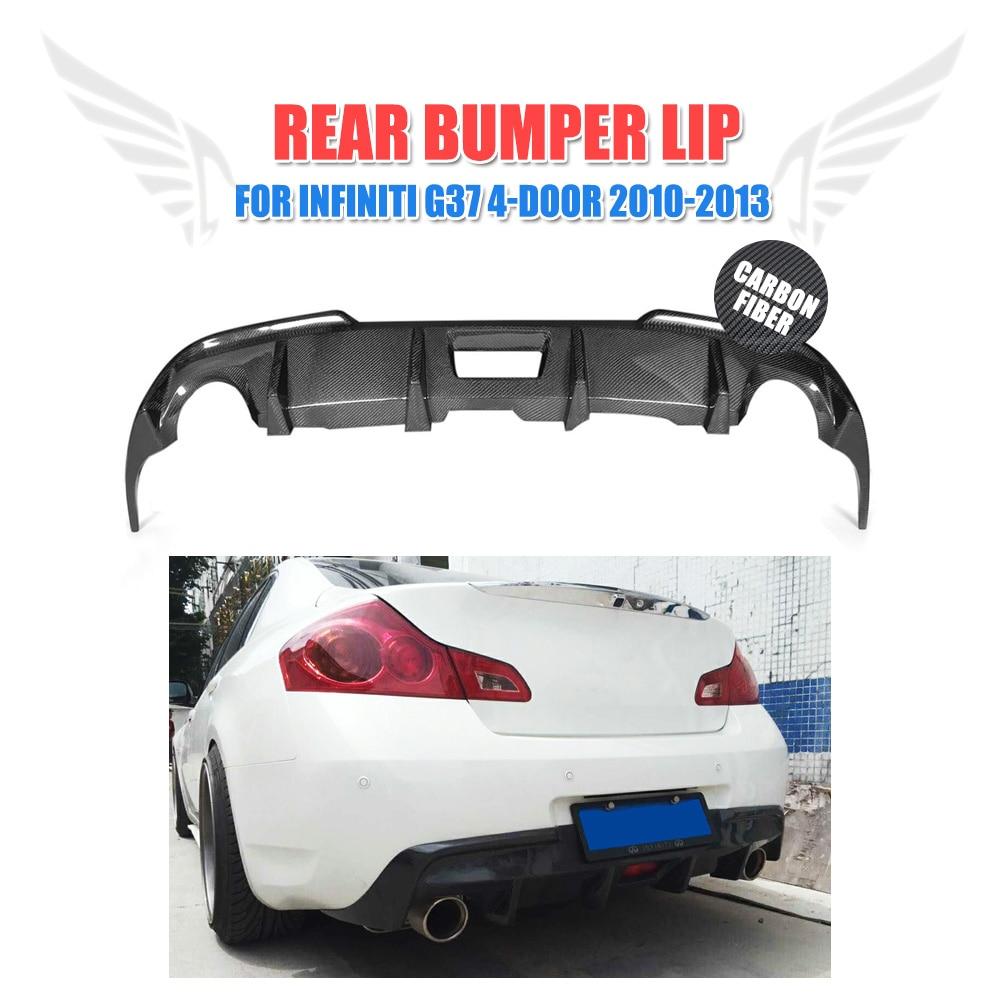 Carbon Fiber Car Rear Bumper Lip Diffuser for Infiniti G37 4-Door Base Sedan X Sedan 2009-2013Carbon Fiber Car Rear Bumper Lip Diffuser for Infiniti G37 4-Door Base Sedan X Sedan 2009-2013