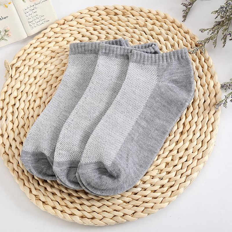 10PC = 5 คู่ถุงเท้าสั้นผู้ชาย Breathable Low Cut ถุงเท้าเรือที่มองไม่เห็นรองเท้าแตะข้อเท้าสบายผู้ชาย/ ถุงเท้าชาย