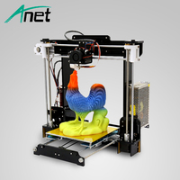 Anet A8 3D Printer Moscow Warehouse Acrylic Frame Easy Assembly DIY Kit Prusa i3 Reprap Hot Bed Original 0.4mm Nozzle Free Ship