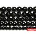 """Envío Libre de Piedra Natural Negro Obsidiana Granos Flojos Redondos 15 """"capítulo 4 6 8 10 12 14 MM Tamaño de la Selección Para La Joyería SAB15"""