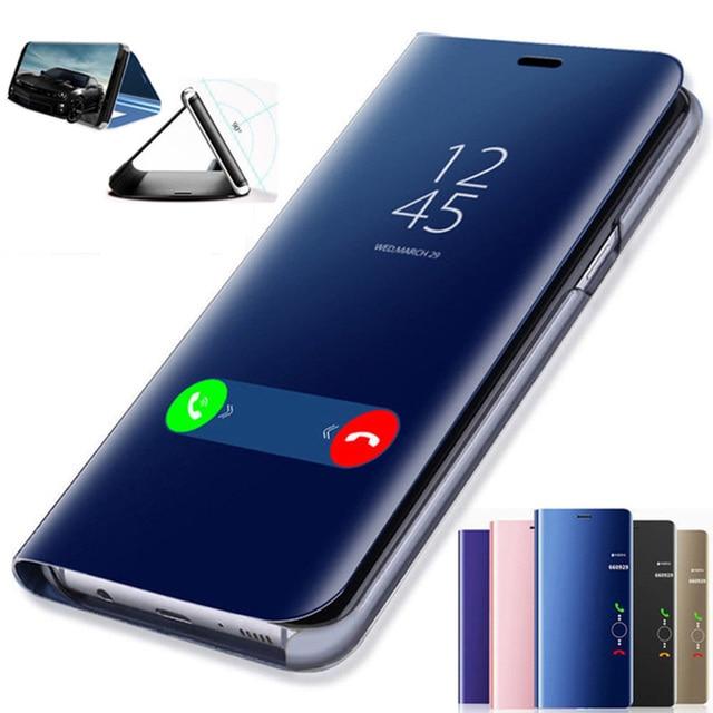 Funda con tapa de espejo inteligente para Huawei P30 P20 Mate 20 10 Pro P Smart Honor 20 8X10 8 9 Lite 9i Nota 10 V10 jugar Nova 3i 3E 2i caso