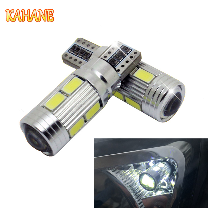KAHANE 2pcs T10 LED Car Light 5630 W5W Canbus Error Free Light Bulb Lamps FOR Volvo XC60 XC90 S60 V70 Ford Focus Fiesta Mondeo cn360 2pcs extremely bright canbus error free 31mm 36mm 39mm 41mm festoon dome c5w car led light bulb