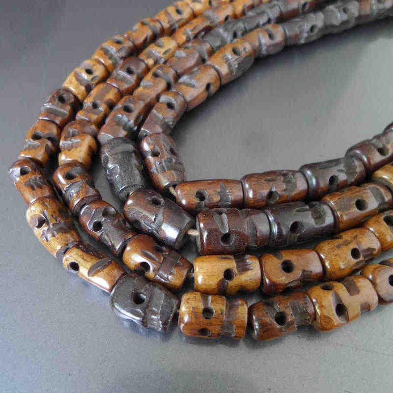 Bro541 Hand Carved Skull Beads Tibetan 108 Yak Bone Skull Prayer Beads Malas For Man Yak Bone Tibetan Beadstibetan Mala 108 Aliexpress