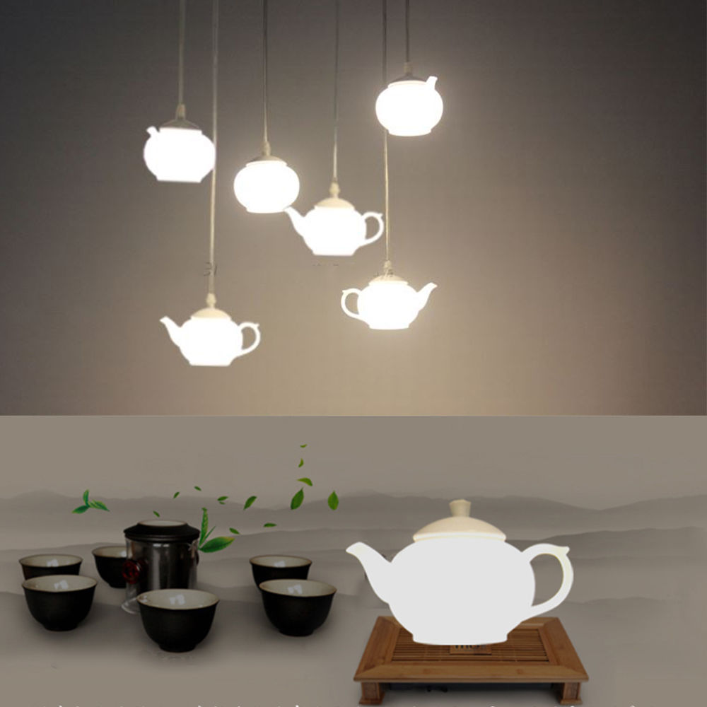 Loft Teapot Glass Droplight Creative Ceiling Pendant Fixture Light Lamp  Decorate Cafe Bar Restaurant Lighting In Chandeliers From Lights U0026 Lighting  On ...