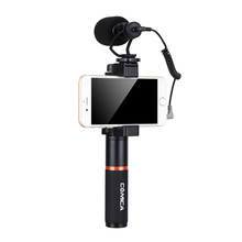COMICA CVM-VM10 Video Kit w Condenser Microphone LED Light Shock-Mount Grip Shooting Gear for iPhone Samsung Xiaomi Huawei