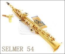 Neue Französisch Selmer High-pitch Sopransaxophon Einteilige Gerade B Flache Saxe Top Musikinstrument sax boquilha Saxofone