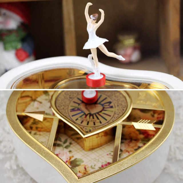 Heart Shaped Music and Jewelry Box