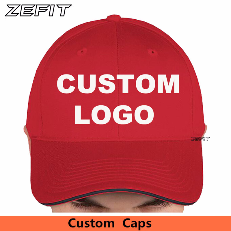 Custom Contrast Sandwich Bill Baseball Caps Team Hat Free Embroidery Printing Logos Wholesale Small Order Quantity Minimum