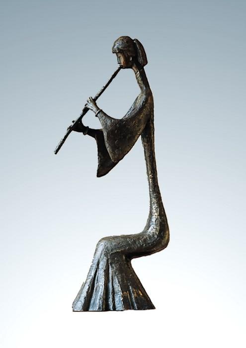 ATLIE BRONZES Moderní bronzové sochy flétna dívka sochy figurka abstraktní život domácí výzdoba trofej obchodní dárky