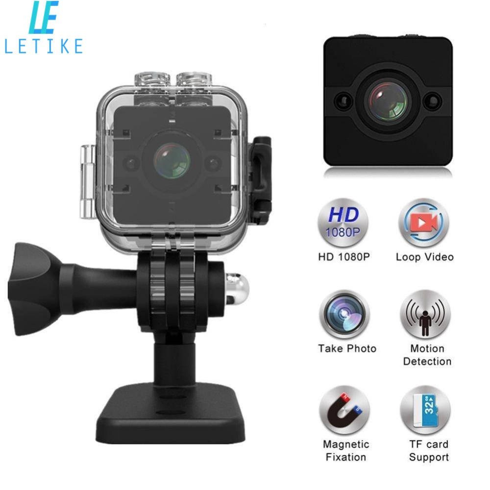 цена на Mini Camera SQ12 Mini Sports HD DV Waterproof Camcorder 1080P Night Vision Wide Angle FOV155 Small Surveillance Camera 30 meters