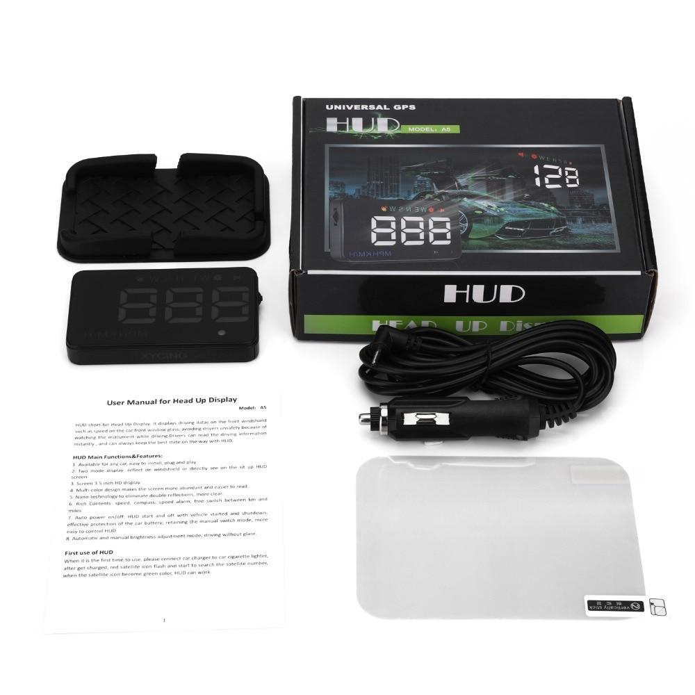 XYCING A5 HUD GPS Avtomobil Yuxarıdakı Ekran şüşəsi Proyektor - Avtomobil elektronikası - Fotoqrafiya 6
