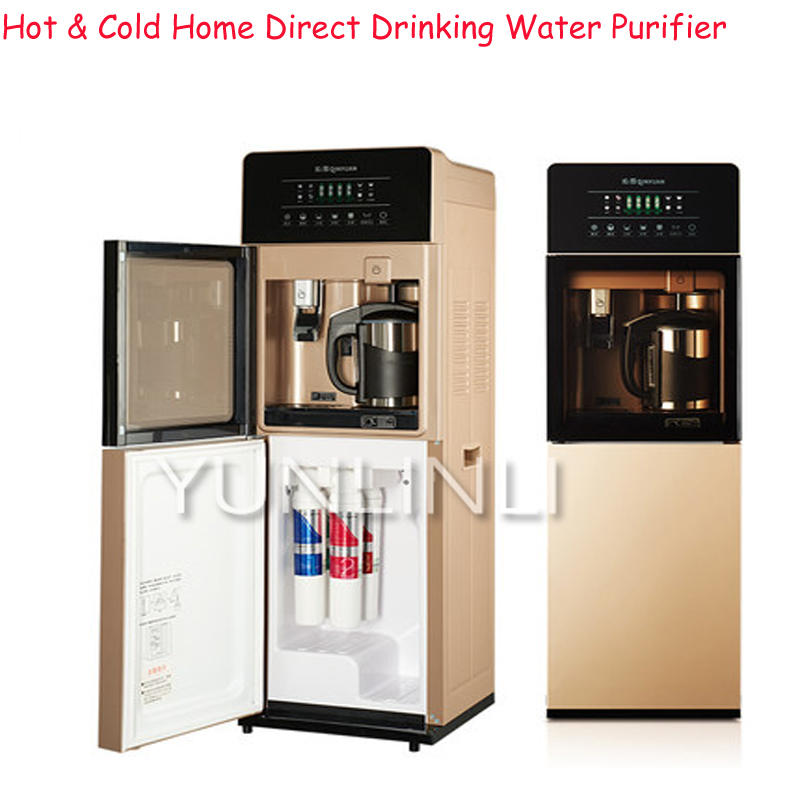 Hot & Cold Home Direct Drinking Water Purifier Level 4 Filter Vertical Household Tap Water Filter Water Purifier JLD8585XZ factory direct sales 2 level direct drinking water purifier pre filter water filter granular activated carbon ppf cotton