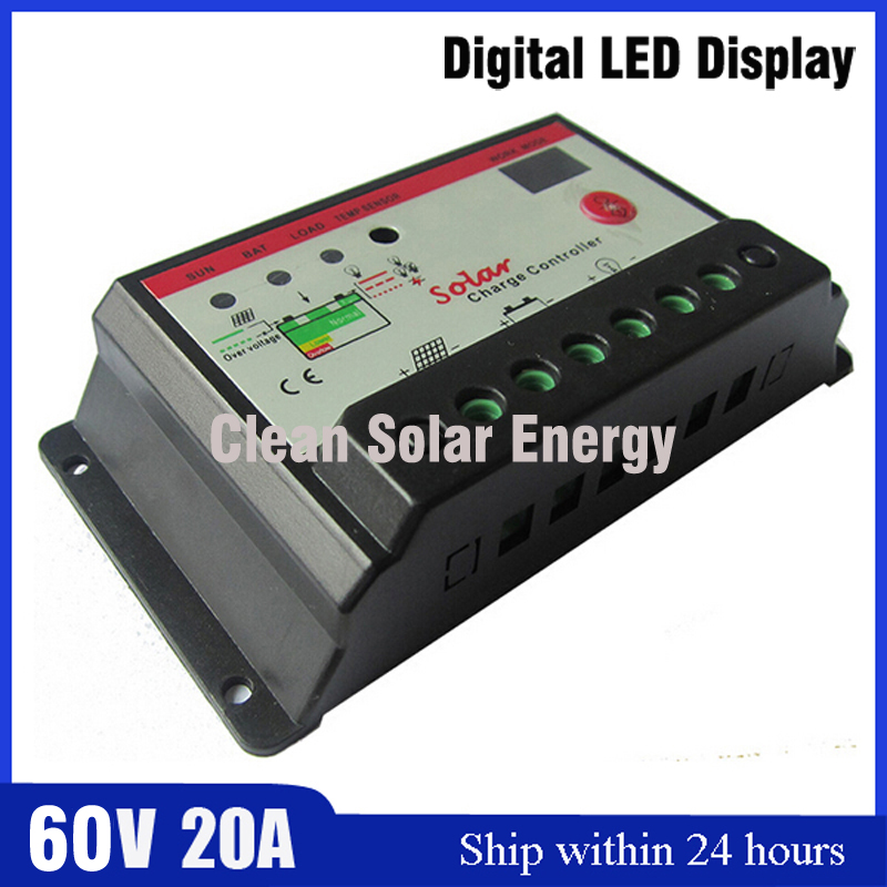 PWM Mode 60V 20A Solar Charge Controller solar panel battery charge discharge with Timer Control solar kits 25w 12v polycrystalline solar panel with 20a pwm solar charge controller ruglator for solar home use solar generators