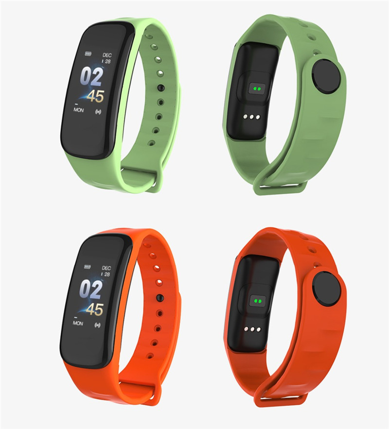 US $23 0 |C1S Smart Bracelet C1 Plus Color Screen Fitness Tracker Blood  Pressure Heart Rate Sleep Monitor Wristband For Android IOS-in Smart
