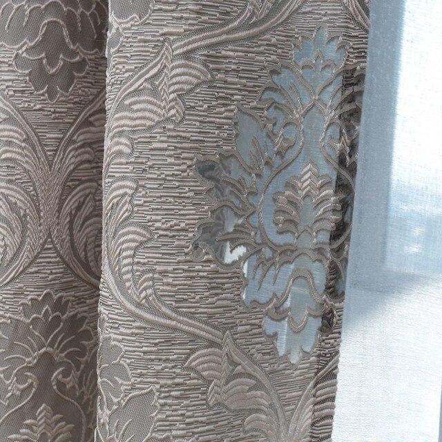 NAPEARL design in stile Europeo jacquard tessuti per tende per finestra del balcone soggiorno in stile Europeo tende grigio