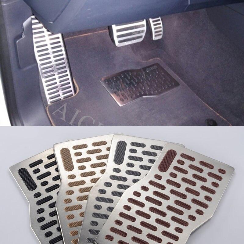 Car Aluminum Pedal Pad Floor Mats Accessories for Ford Focus 2 3 MK2 Fiesta Ranger Fusion Mondeo 2 3 4 MK4 2008-2018 floor