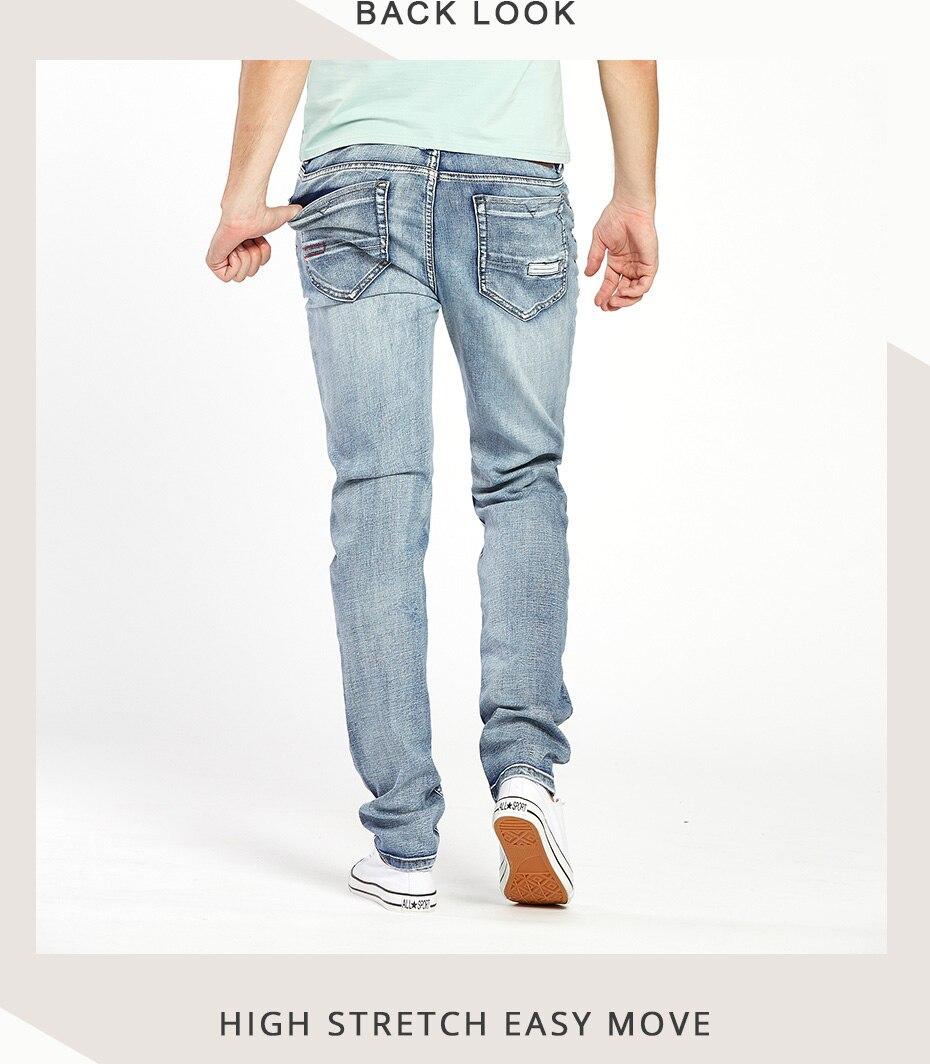 56e6651e505 Drizzte Brand Mens Jeans Trendy Stretch Blue Grey Denim Men Slim Fit Jeans  Trousers Pants Size 30 32 34 35 36 38 40 42 Jean