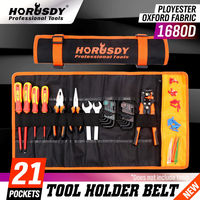 HORUSDY Multi-function Waterproof Oxford Carrying Handles Folding Roll Bags Portable Tool kit Storage Organizer Pouch Bag Case