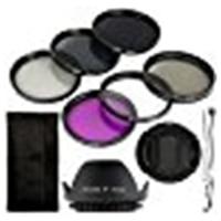 Black 6pcs UV CPL ND Filter Lens Lens Cover Lens Hood 58mm For Canon EOS Rebel