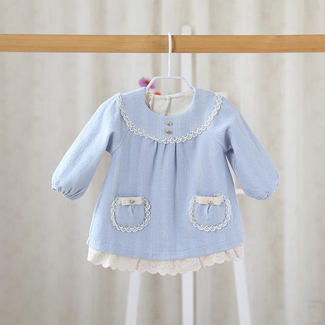 2016 primavera ou no outono novas crianças suéter de lã casaco casaco Infantil Meninas Doce bonito boneca