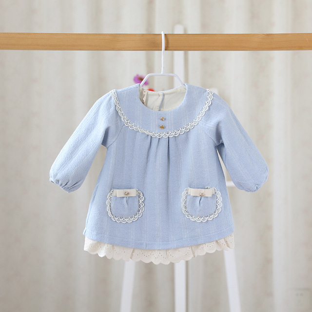 2016 spring or  autumn new childrens coat Infant Girls Sweet pretty wool cardigan sweater coat doll