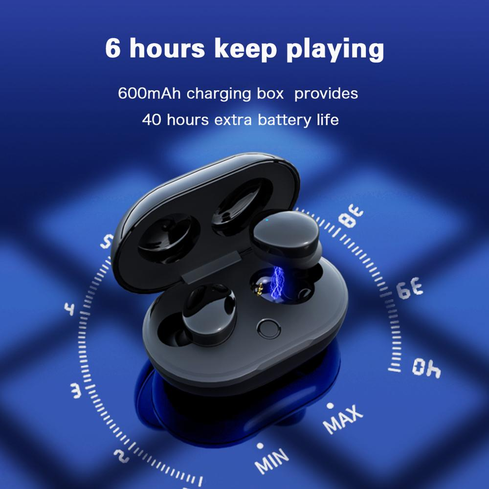 Image 5 - Dikdoc Wireless Earbud Bluetooth Earphone TWS880 IPX7 Waterproof Small Easy To Wear Noise denoise BT 5.0 For Galaxy Sport Buds-in Bluetooth Earphones & Headphones from Consumer Electronics