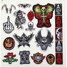 1PCS New punk style skull paste cloth paste patch paste embroidered shoes and hats decorative personality  clothing accessories