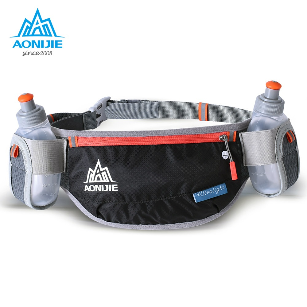 AONIJIE Unisex Adjustable Running Waist Bag Marathon Trail Running Pack Cycling Waist Pack Belt Mobile Phone Holder Pockets