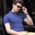 2017 Новый мужской Бизнес-POLO Рубашка Мода Случайный Мужчина С Короткими Рукавами Плед Polo Бренд мужской Одежды