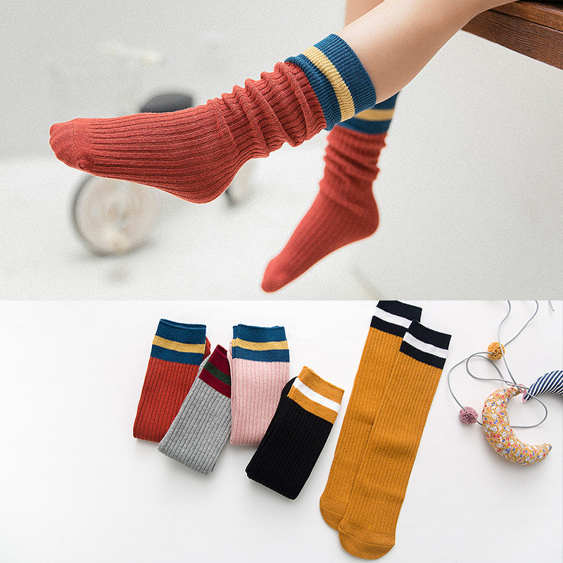 Baby Girls Socks Knee High Baby Princess Socks For Girl Sweet Cute Baby Socks Long Tube Kids Leg Warmer Colored 1-8Y