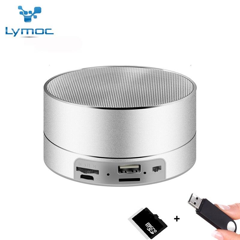 LYMOC Métal Bluetooth Haut-parleurs Sans Fil Subwoofer Portable Haut-Parleur 3D Basse Lourde FM TF carte U-disque Musique Jouer pour iPhone XiaoMi