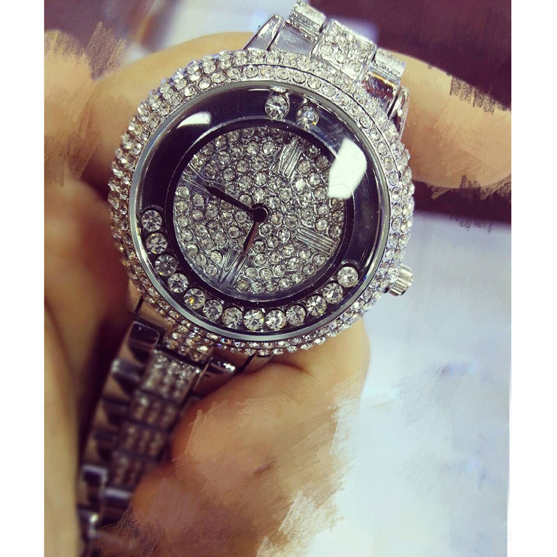 2016 New Arrival Famous Brand BS Luxury Flow Diamond Bead Women Watch Lady Gold Siliver Dress Watch Rhinestone Bangle Bracelet spring big sale brand bs luxury 14k gold diamond women watch lady gold siliver dress watch rhinestone bangle bracelet