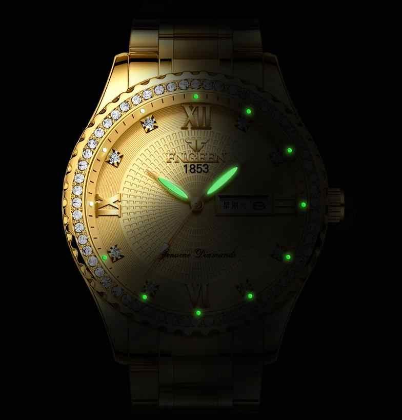 Роскошные мужские кварцевые часы брендовые стальные часы с календарем 30 метров Rolexable водонепроницаемые мужские кварцевые часы золотые часы relogio masculino