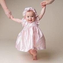 New Born Baby Short Sleeves Clothing Ruffles Mid-Calf Length Baby Girl Baptism Gown Christening Dress One Year Birthday Dress