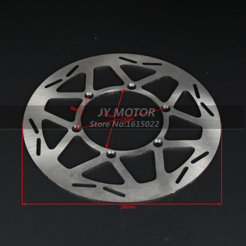 ФОТО 280mm 6 holes Front brake disc disk rotor refitting for CRF dirt bikes motorcycle bikes free shipping