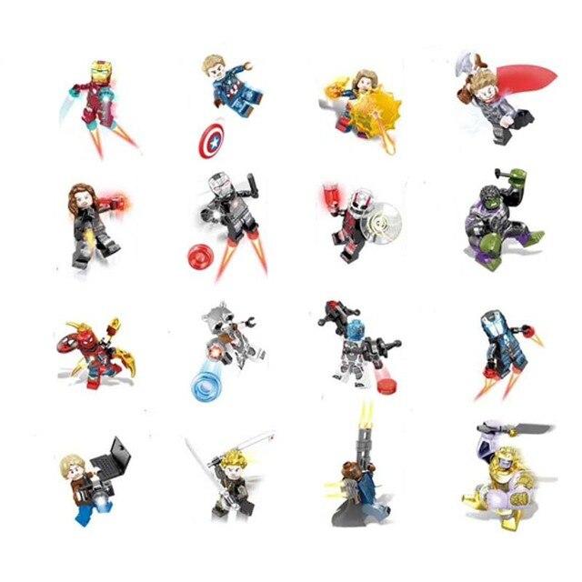 Vingadores Marvel Super heroes série Thanos personagem do Filme Homem de ferro Hulk mini Figuras de Ação Boneca Brinquedos Para as crianças Presentes