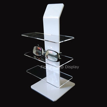 Quality acrylic counter eyeglasses jewelry display for 3 pair of sunglasses holder stand цены