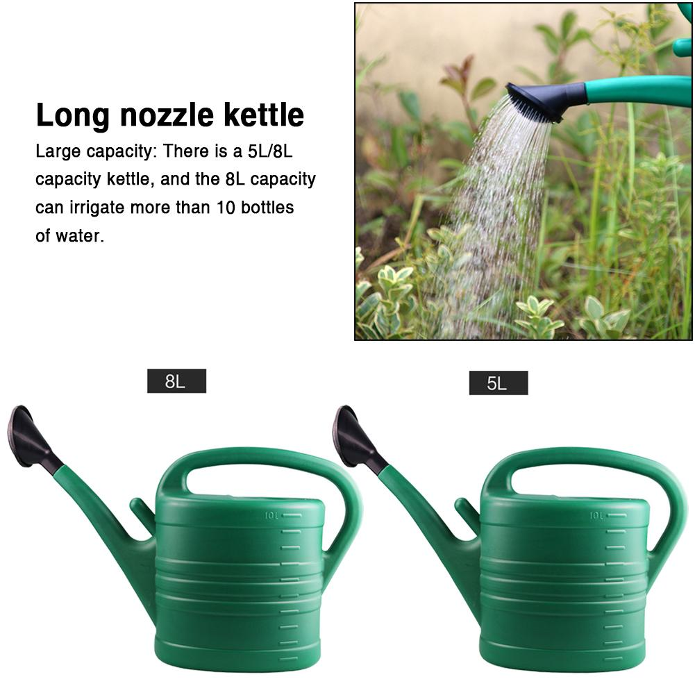 5L8L Watering Can Large Capacity Long Mouth Thickened Watering Kettle Sprinkler With Handle For Vegetable Flower Garden Tool