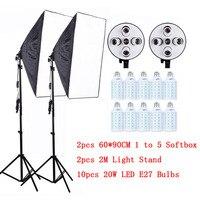 Профессиональный 60x90 см/24x35 5 в 1 разъем Камера Softbox Комплект с легкой подставкой для Dslr фотографии студийный рассеиватель Lightbox