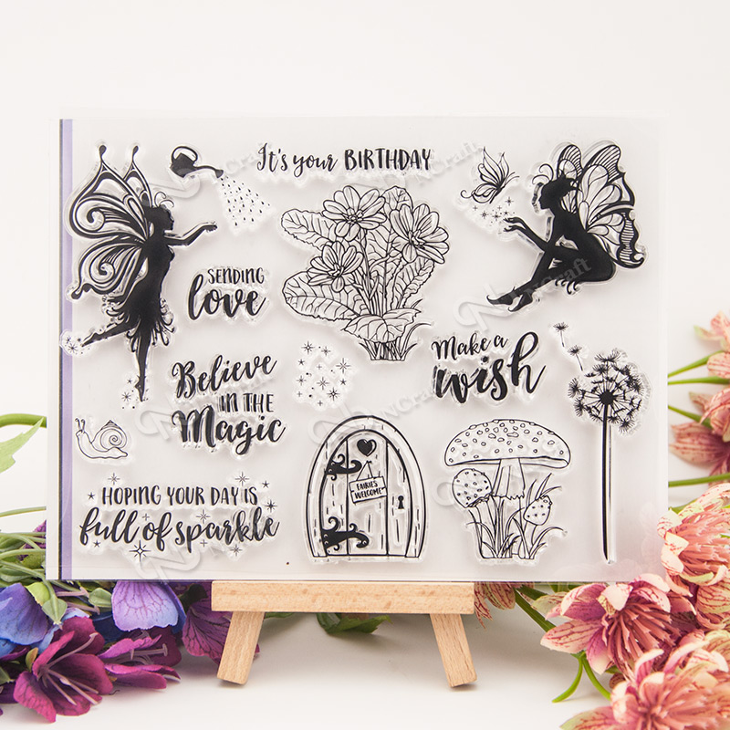 Fairy Transparent Clear Silicone Stamp Seal for DIY Handmade Scrapbooking Photo Album  for Christmas gift T0102 lovely animals and ballon design transparent clear silicone stamp for diy scrapbooking photo album clear stamp cl 278