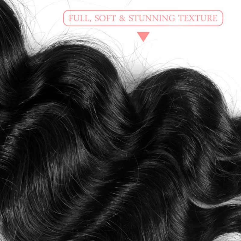 Addbeauty sin procesar 100% Paquete de cabello virgen Color de onda Natural peruano 1 3 4 piezas extensión humana para mujeres negras Doble trama