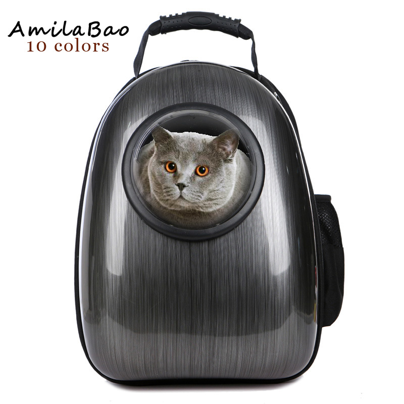 Space Pet Backpack with Transparent window Pet Cat Backpack Dog's home Portable pet Ventilation bags travel backpack ME813 travel tale fashion cat and dog capsule pet cartoon bag hand held portable package backpack