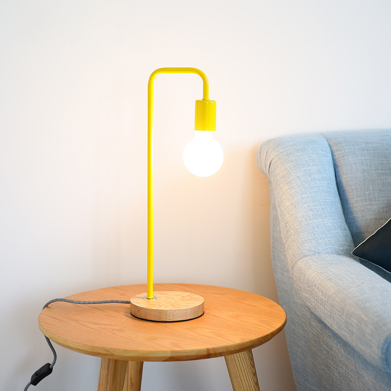 Livewin Modern Table Lamp Desk lamp Reading Night Light 6 Colorful Art Deco Bedside lamp Wood Home Lighting E27 110-240V
