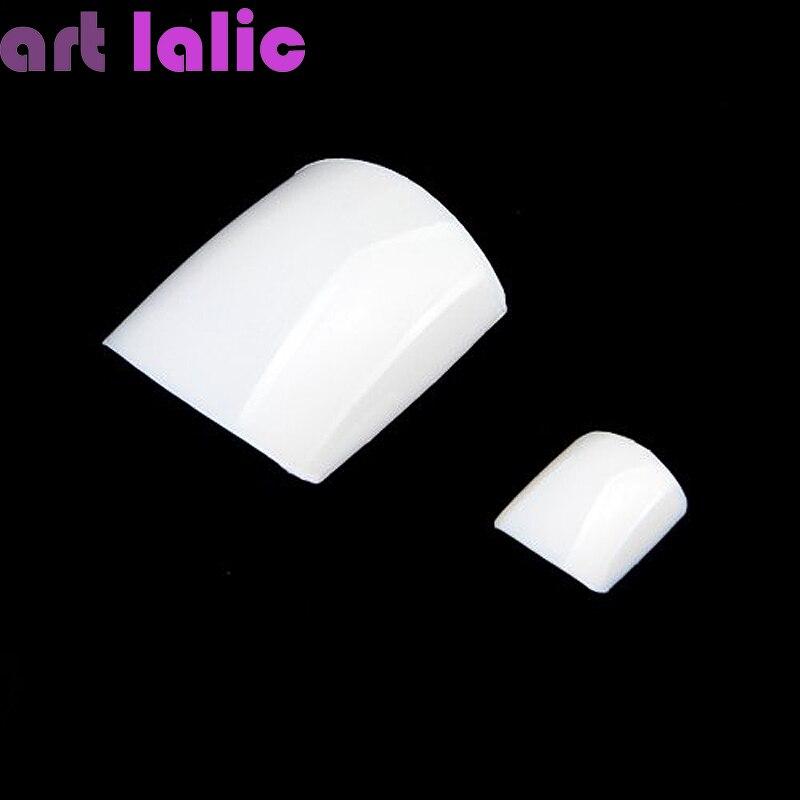 Buy wholesale 500pcs set acrylic white for Acrylic toe nails salon