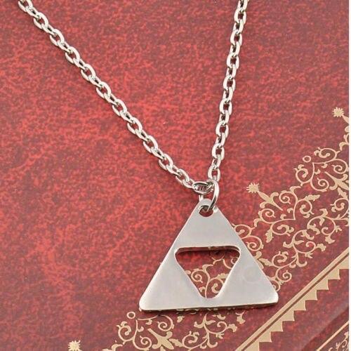 Legend of Zelda Silver Triforce Necklace