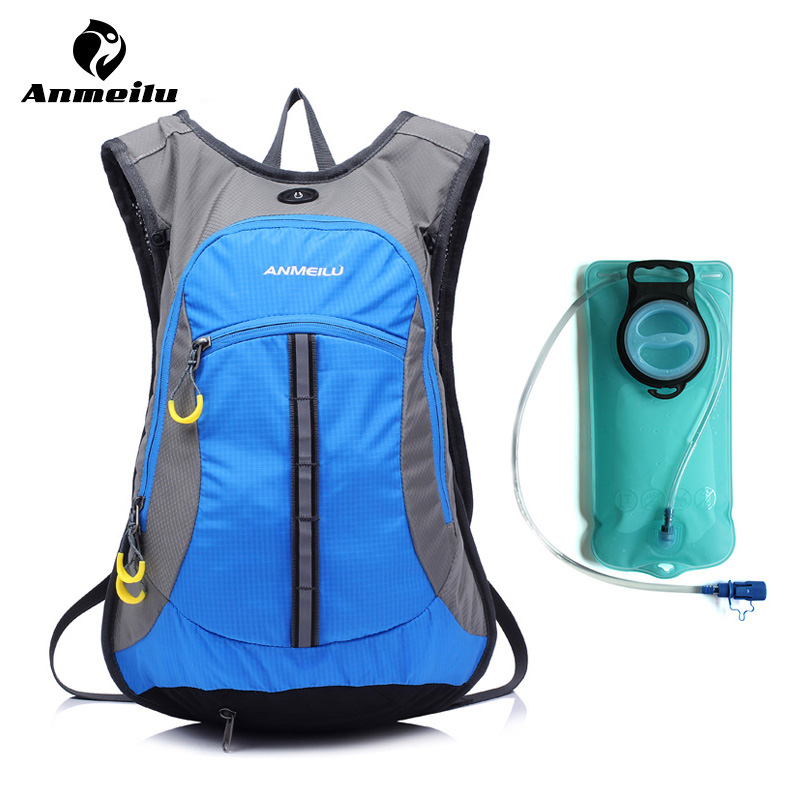 ФОТО ANMEILU 2L Water Bag + 15L Hydration Backpack 6 Colors Outdoor Sport Waterproof Hiking Cycling Mochila Hidratacion Camelback